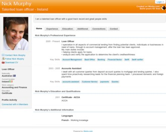 Free online cv sign up to create your worky cv template now cv example yelopaper Gallery
