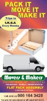 Movers And Makers - house and office removals man with a van